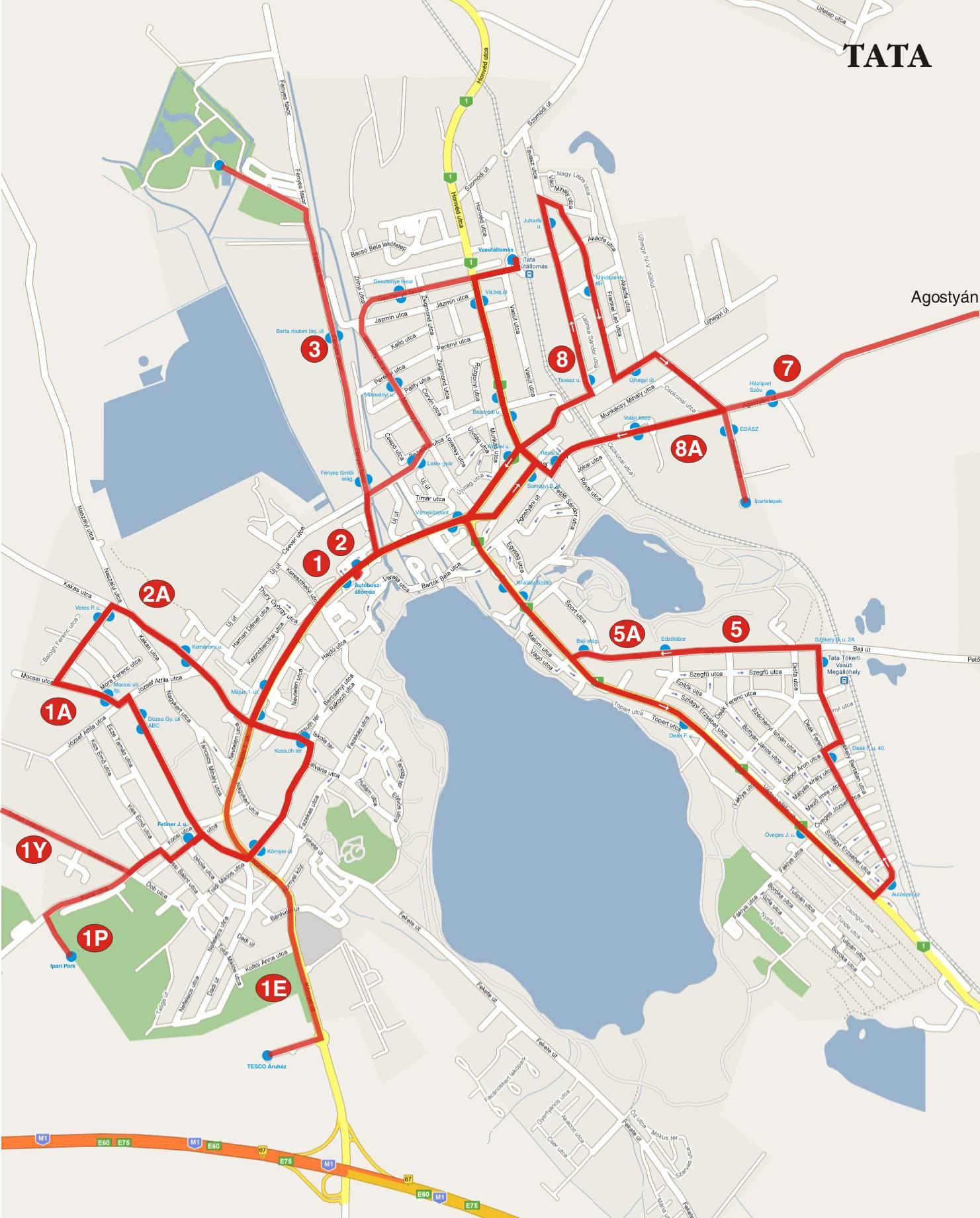 tata térkép látnivalók Hogyan jussunk el Tatára?   Tatai Barangolások tata térkép látnivalók